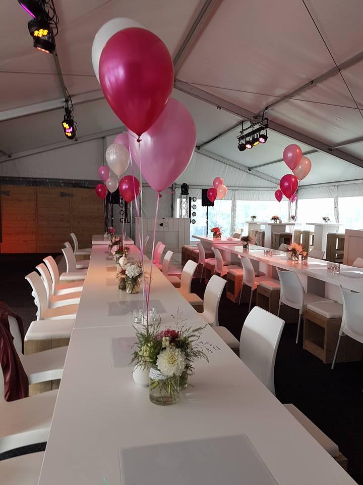 Ballon tafel boeket party verhuur tacken for Ballonnen tafels